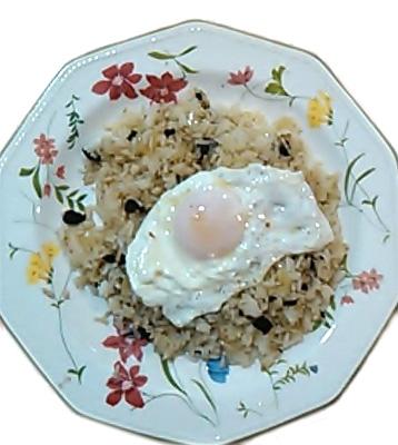 arroz blanco al ajo negro